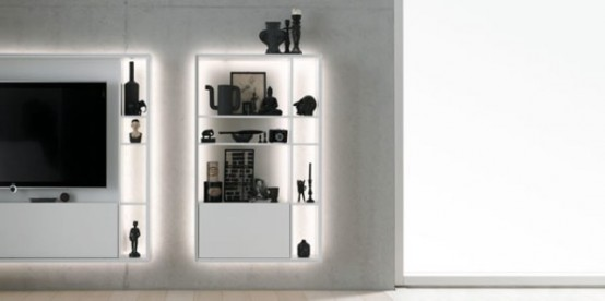 Glowing Bookless Shelf System to Show Off Your Items - DigsDi