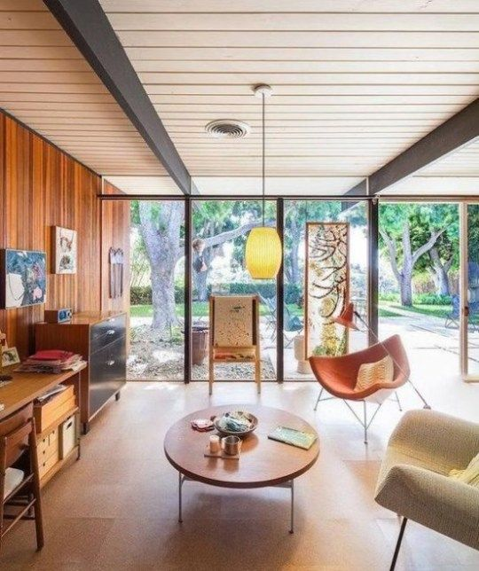 Gorgeous Airy Mid Century Modern Living Rooms 32 554x661 | Mid .