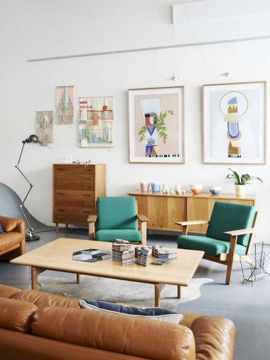35 Gorgeous Airy Mid-Century Modern Living Rooms - DigsDi