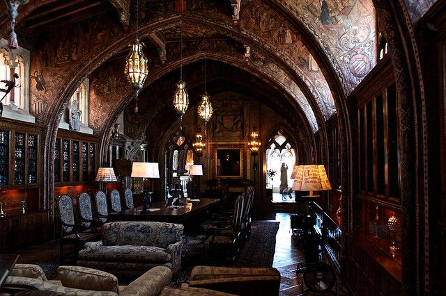 W.R. Hearst's Home Office - The Gothic Suite | Gothic house .