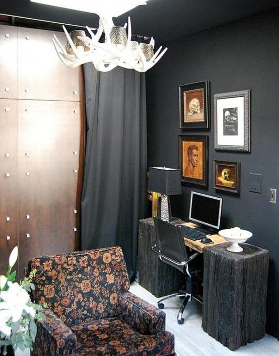 21 Gorgeous Gothic Home Office And Library Décor Ideas | Small .