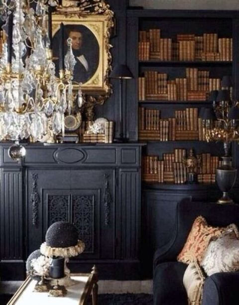 21 Gorgeous Gothic Home Office And Library Décor Ideas - DigsDi