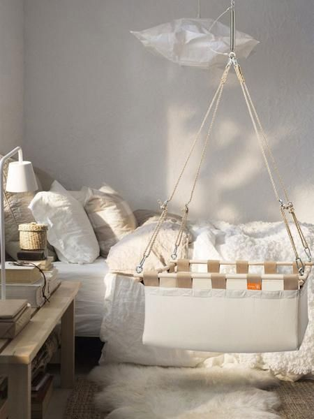 Gorgeous Hanging Cradles For Your Nursery | Hanging baby crib .