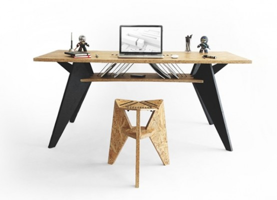 Green And Practical Viva Desk With A Crafted Touch - DigsDi