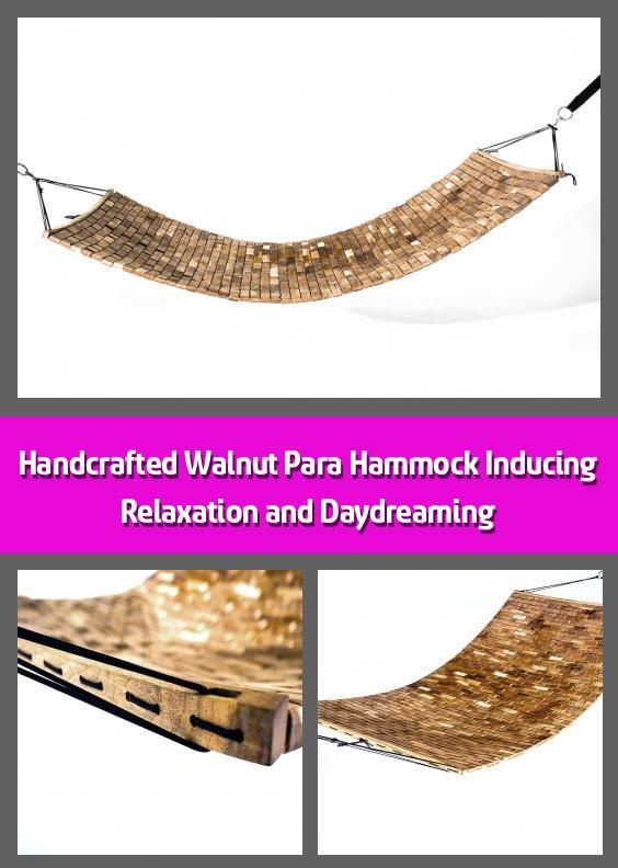 Handcrafted Walnut Para Hammock Inducing Relaxation and .