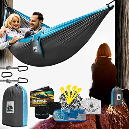 Amazon.com: Double Camping Hammock With Straps – UNIQUE 4in1 .