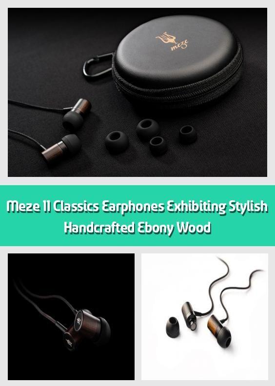 Meze 11 Classics Earphones Exhibiting Stylish Handcrafted Ebony .