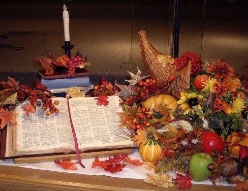 Thanksgiving | Fall church decorations, Fall thanksgiving decor .
