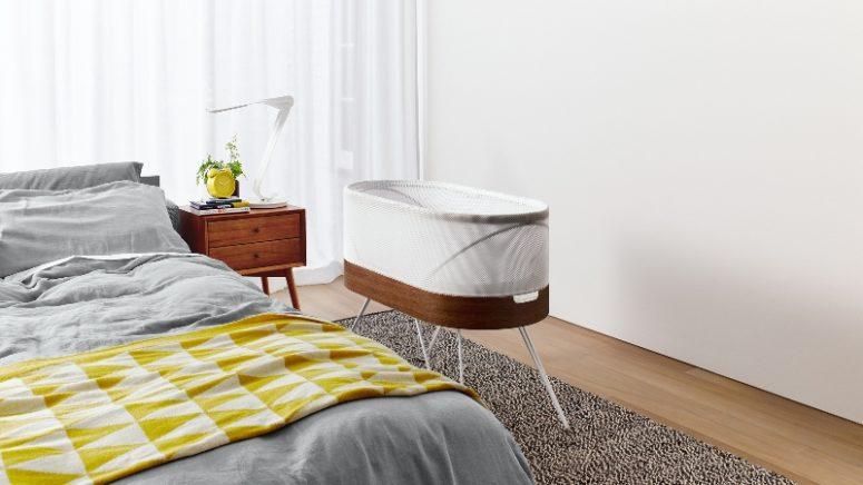 Hi-Tech Snoo Crib Rocks Babies To Sleep - DigsDi