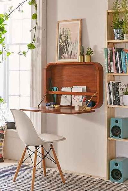 20 Hideaway Desk Ideas To Save Your Space - Shelterne
