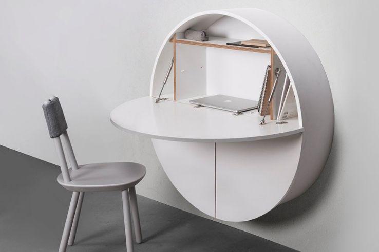 Minimalist Wall-Mounted Hideaway Desk/Cabinet - IPPINKA | Wall .