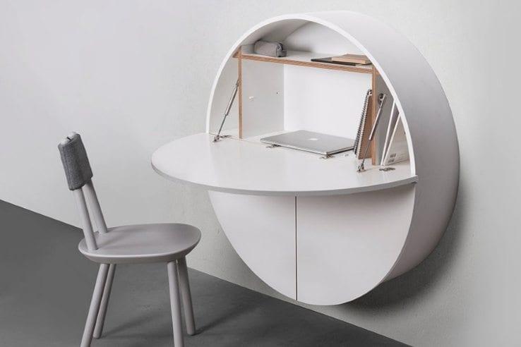 Minimalist Wall-Mounted Hideaway Desk/Cabinet - IPPIN