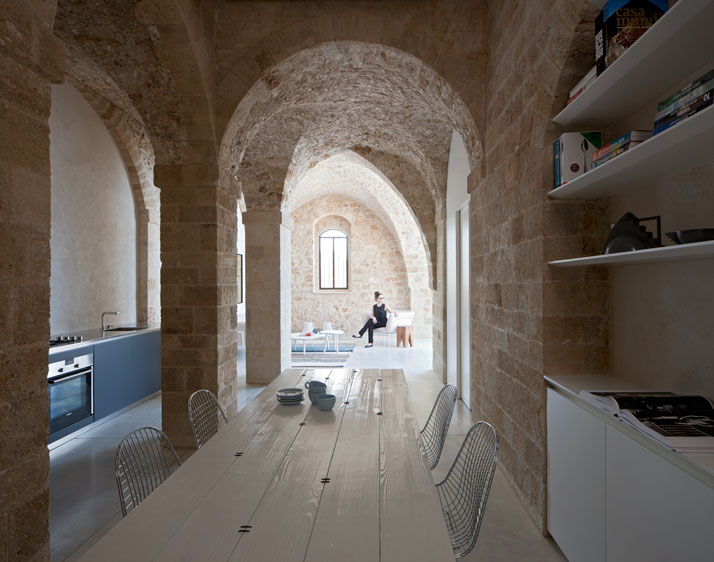Contemporary Minimalism Meets Historical Asceticism in Old Jaffa .