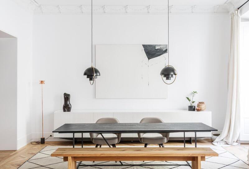 Modern minimalism in a historic she