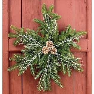 Fir Snowflake Holiday Wreath | Christmas wreaths, Holiday wreaths .