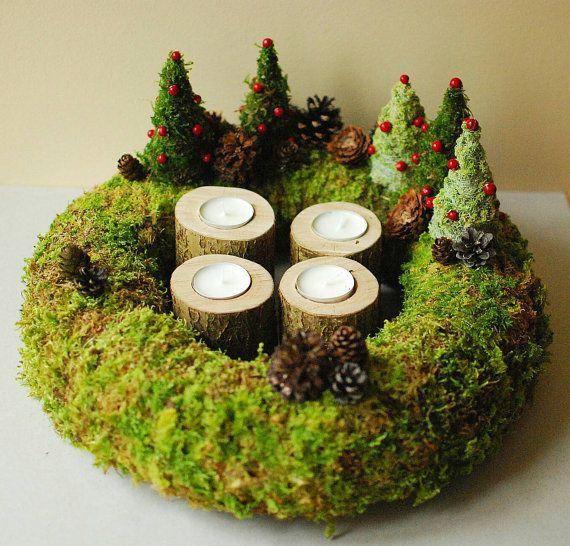 Advent Wreath | Christmas wreaths, Christmas centerpieces, Natural .