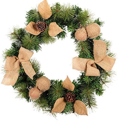 Amazon.com: Winter Wreath,Christmas Front Door Decoration,Holiday .