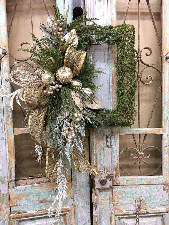 Christmas Wreath Christmas Door Decor Christmas Decor | Etsy .