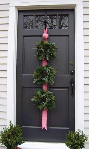 Wreaths Always Look Better On a Black Door — DESIGNED | Door .