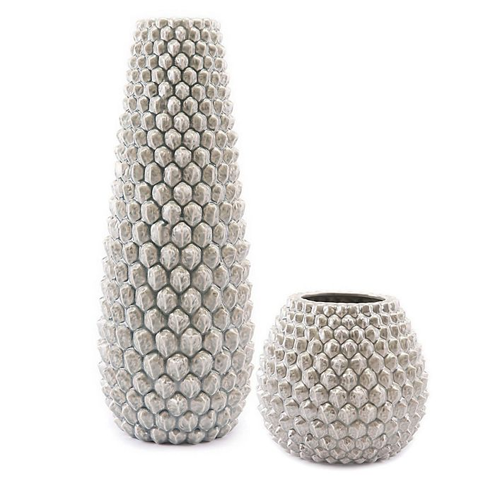 Zuo® Pinecone Vase Collection in Antique Silver | Bed Bath & Beyo
