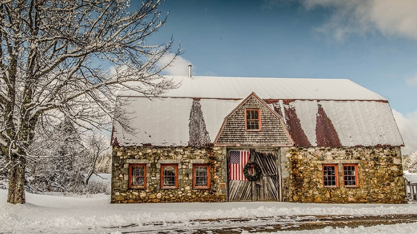 Bar Harbor's Stone Barn - View of the Week | Maine Homes by Down Ea