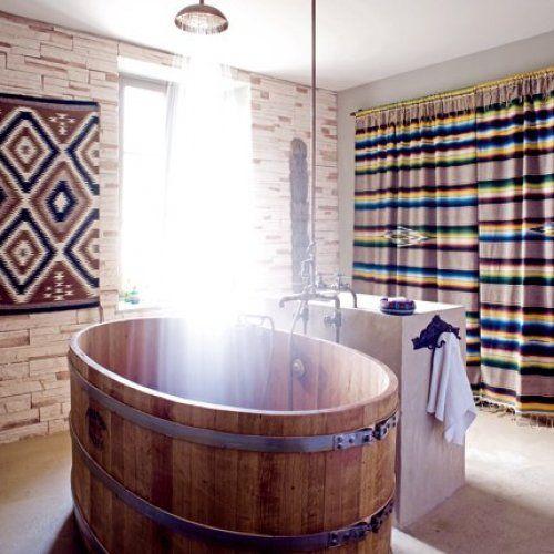 Have barrels of fun in these barrel bathtubs | Wooden bathtub .