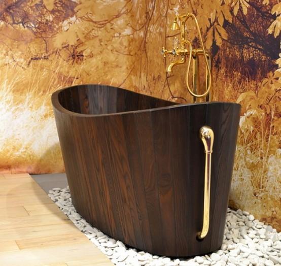 10 Luxurious Wooden Bathtubs For Home Spas - DigsDi