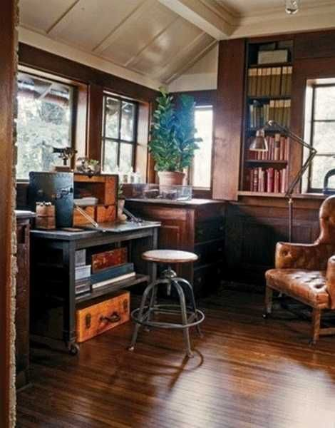 25 Inspiring Ideas for Home Office Design in Vintage Style .