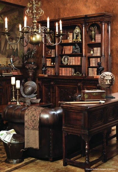 Old Library … | Home, Antique french furniture, Home dec
