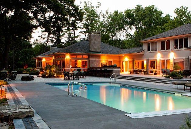 Midwest Swimming Pool, Concrete Pool Deck Swimming Pool Blue Ridge .