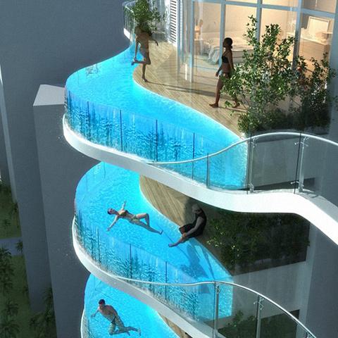 Hotel Balcony Swimming Pools - Amazing DIY, Interior & Home Desi