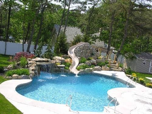 Other Home Swimming Pools With Slides Impressive On Other Within .