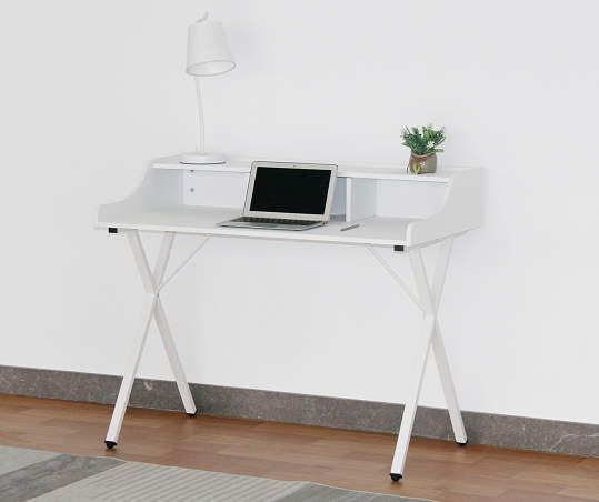 Just Home Faux Marble White Desk - Big Lots in 2020 | White .