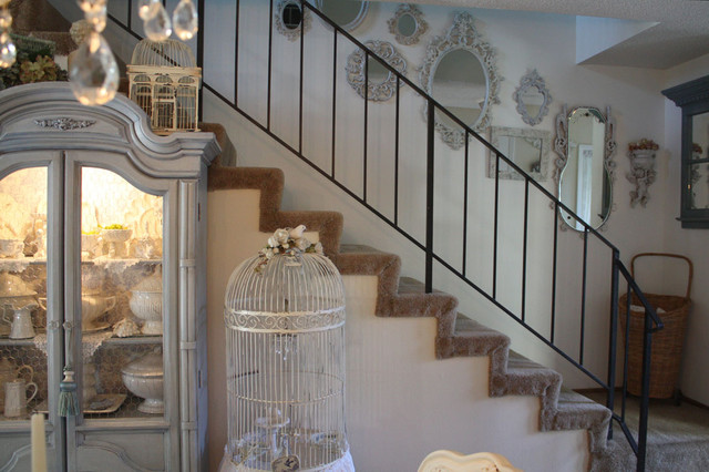 Mirrored Staircase - Shabby-Chic Style - Staircase - San Francisco .