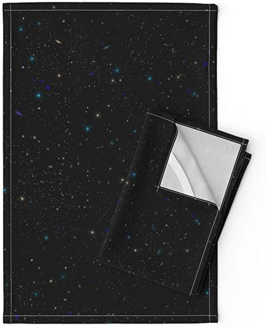 Amazon.com: Roostery Stars Tea Towels Space Starscape Cosmos .