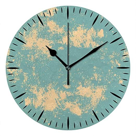 Amazon.com: Kuizee Wall Tabletop Clock Grunge Textures PVC Foam .