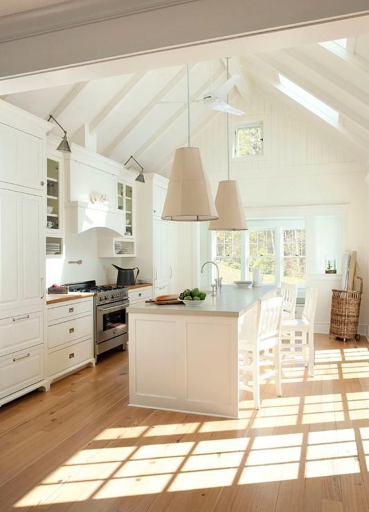 Cottage Kitchen with Gray Concrete Countertops - Cottage - Kitchen .