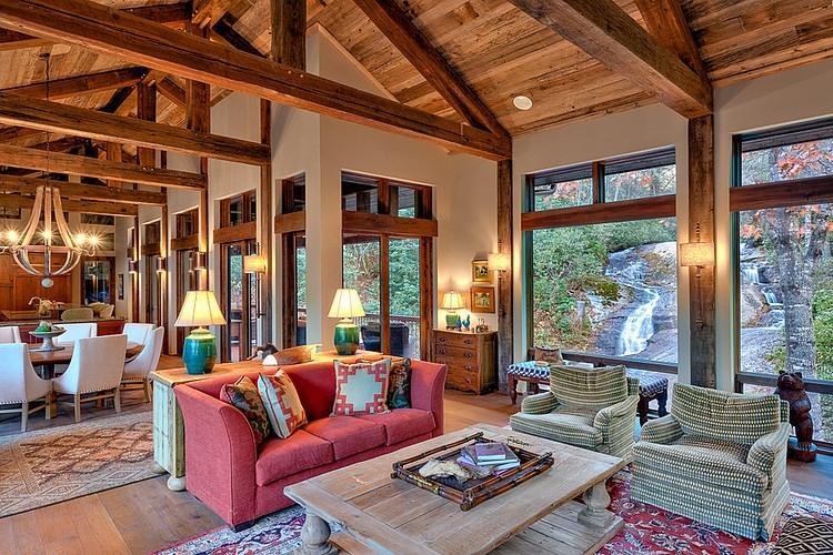 wood beam ceiling | Interior Design Idea