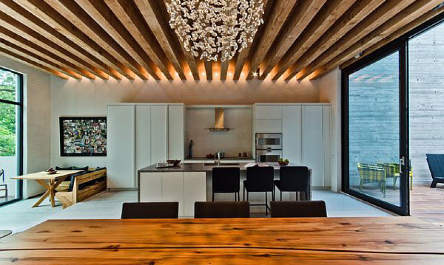 Homes With Exposed Wooden Beams Are Simply Charmin