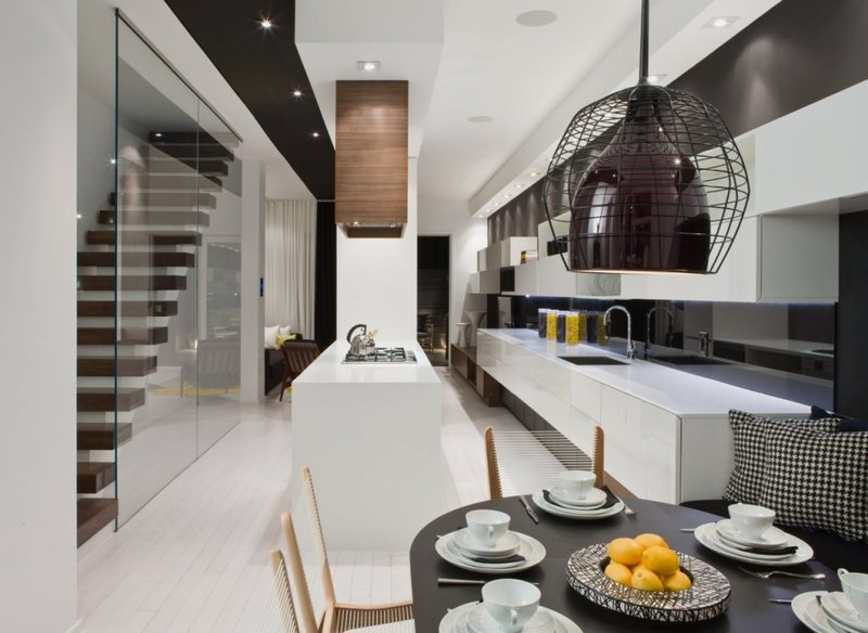 Modern House Interior in White and Black Theme – Trinity Bellwoods .
