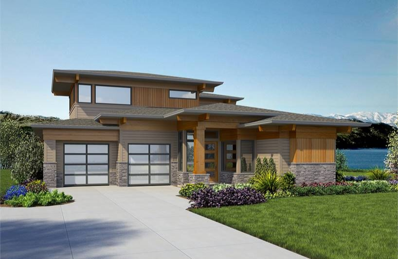 Modern House Plans & Contemporary Style Home Blueprin