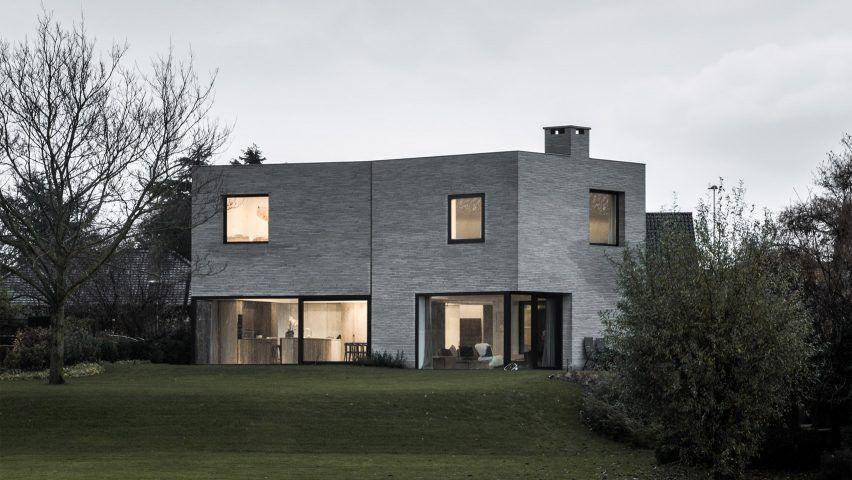 Graux & Baeyens designs three brick volumes to form Belgian house .