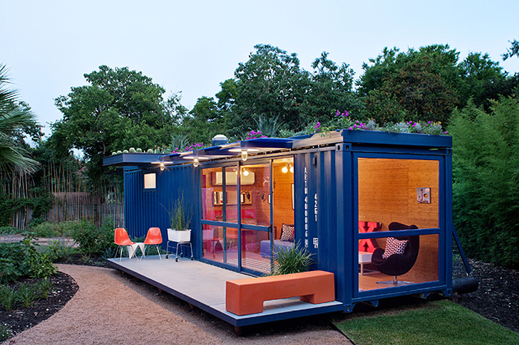 Flowers Top Awesome Shipping Container Guest House in Tex