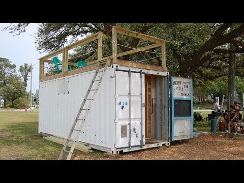 160 sq ft Custom Container tiny Home with Roof top deck - YouTu