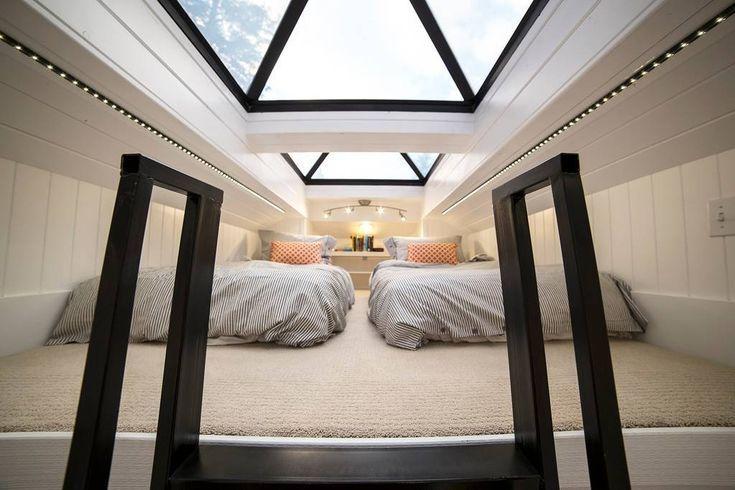 Tiny Home with Giant Skylights in Utah | Tiny house bedroom, Tiny .