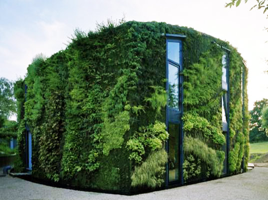 Gorgeous Green House is Wrapped in a Lush Vertical Garden in Belgi