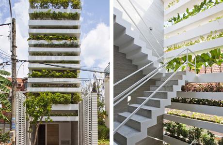 A Concrete House With A Vertical Garden In Vietnam - IGNA