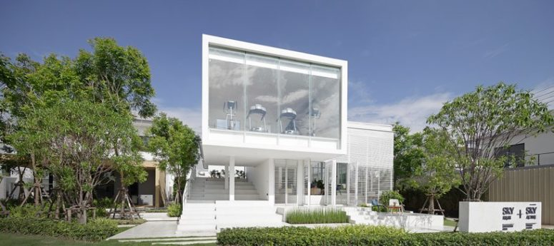 Contemporary Sky Clubhouse With A Gradient Facade - DigsDi
