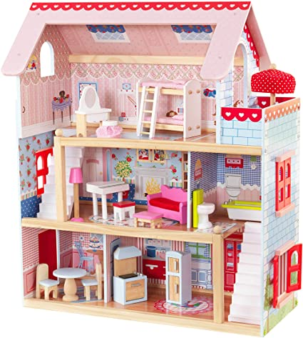 Amazon.com: KidKraft Chelsea Doll Cottage with Furniture: Toys & Gam