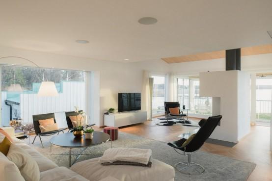 Modern Swedish Waterfront Home With Extensive Glazing - DigsDi